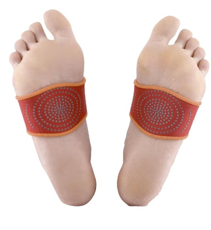 再撮り繊細中世の桂式保温健康足先ベルト 左右2個組