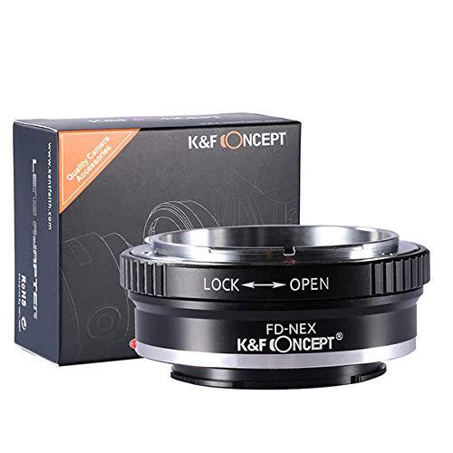 K&F Concept マウントアダプター Canon FDレンズ- Sony Alpha NEX Eカメラ装着用レンズアダプターリング So...