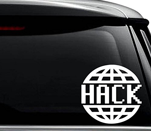 Hack the Planetデカールステッカー車トラックバイクウィンドウバンパー壁ノートパソコン 20 in / 50 cm Wide PWS1755-20WH