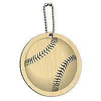 野球ボールラウンドウッドIDカード荷物タグ