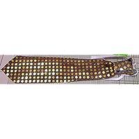 光る LED ネクタイ ブラウン 簡単 装着
