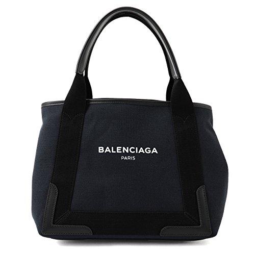 BALENCIAGA バレンシアガ 339933 K9H1N NAVY CABAS S キャンバス トートバッグ ポーチ付き 4065/BLEU-M 4065/BLEU-MARINE/NOIR [並行輸入品]