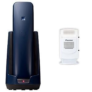 Pioneer デジタルコードレス電話機 親機のみ ネイビー TF-FD15S-A + Pioneer 電話機アクセサリー フラッシュベル ホワイト TF-TA21-W セット 【国内正規品】