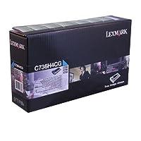 Lexmarkシアン10, 000ページYield Returnプログラムトナーカートリッジfor x736/ c736/ x738プリンタc736h4cg by Lexmark