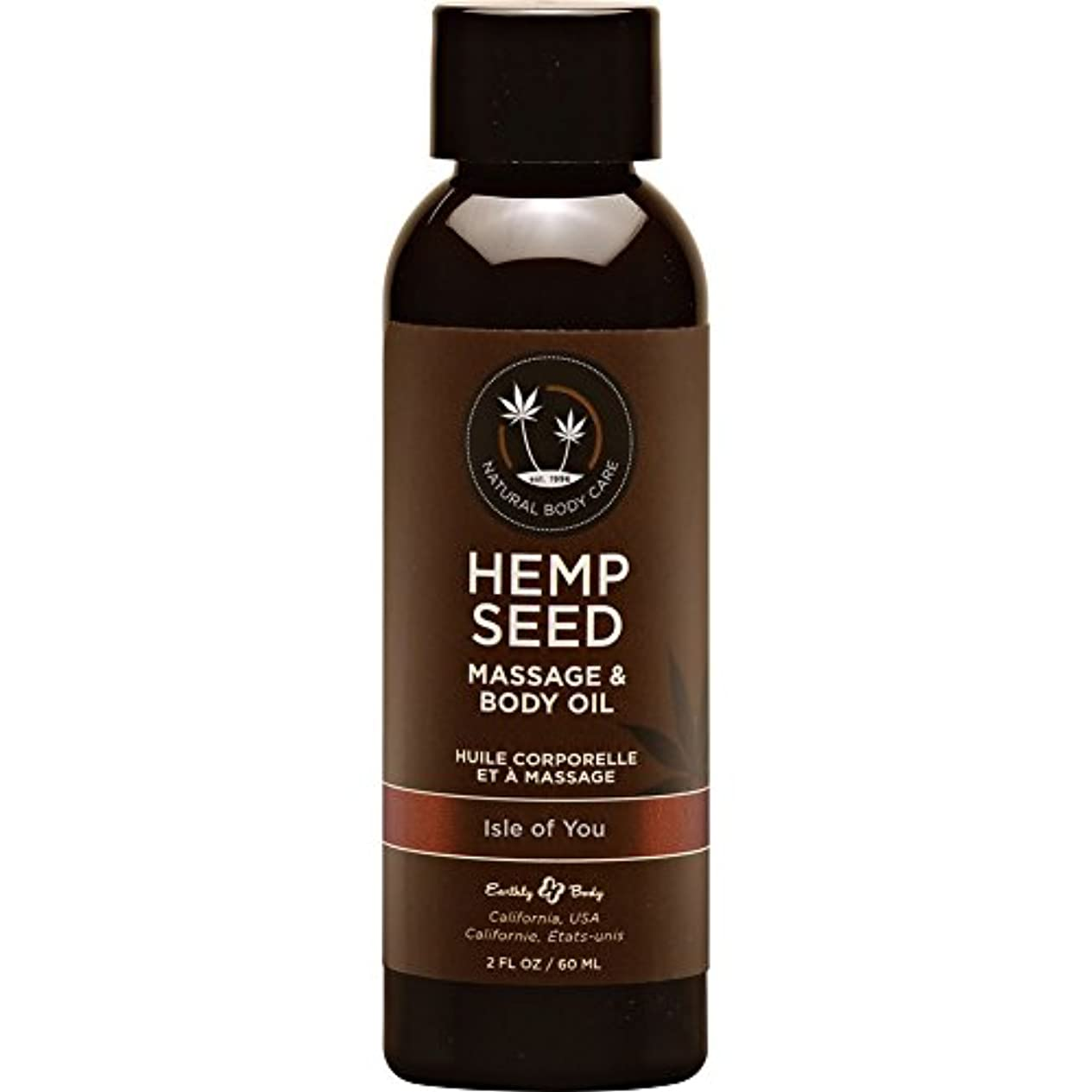 慣れている季節中世のHemp Massage Oil Isle Of You 2oz by Earthly Body