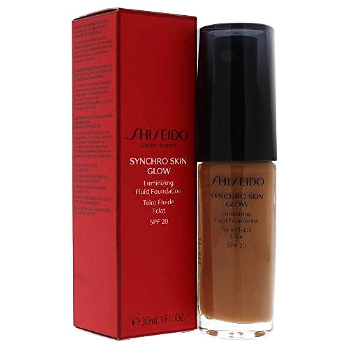 シート灰格納Synchro Skin Glow Luminizing Fluid Foundation SPF 20 - # 06 Golden