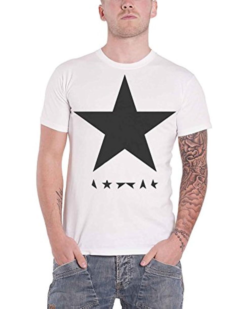 橋脚火傷受け継ぐDavid Bowie デビッド?ボウイ Blackstar logo Album ブラックスター?アルバム 公式 メンズ ホワイト 白 Tシャツ 全サイズ