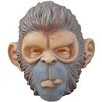 マスク マスクハロウィーンボールパーティー用品モンキーマスクオランウータンヘッドギアのパフォーマンスマスク