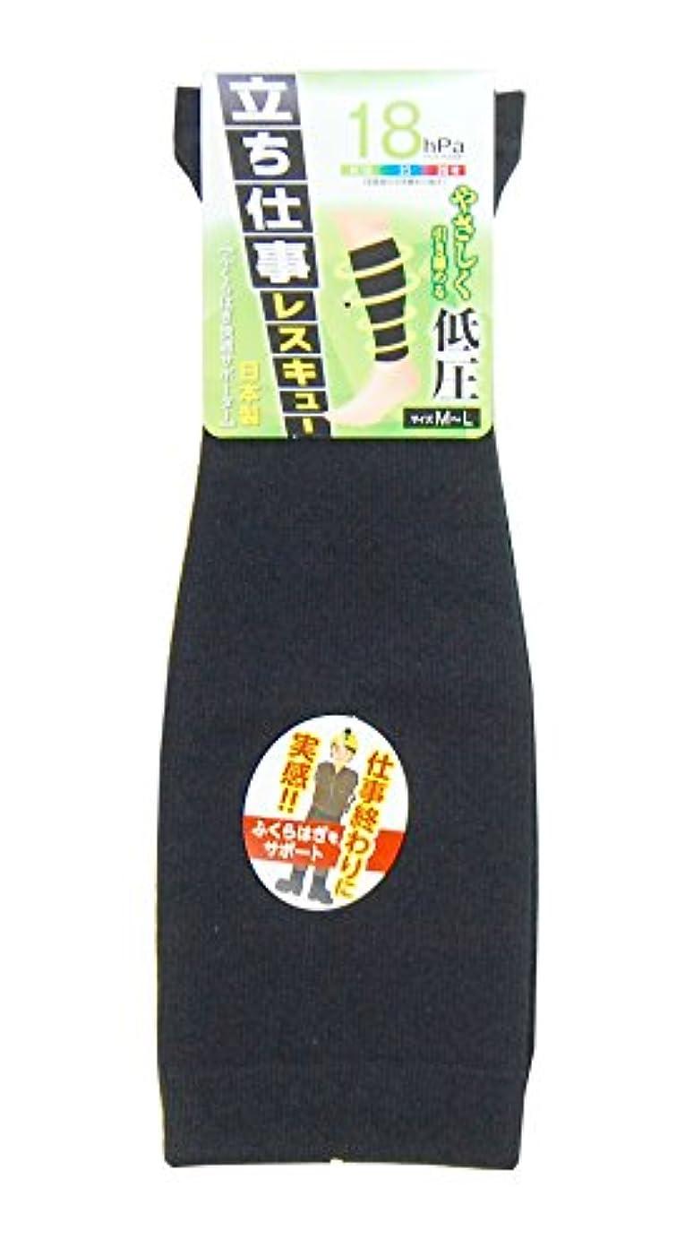信頼できるコール登る<日本製の技> ふくらはぎ快適サポーター 男女兼用 加圧別3種類 黒 ( 無地) #1766 (18hPa)