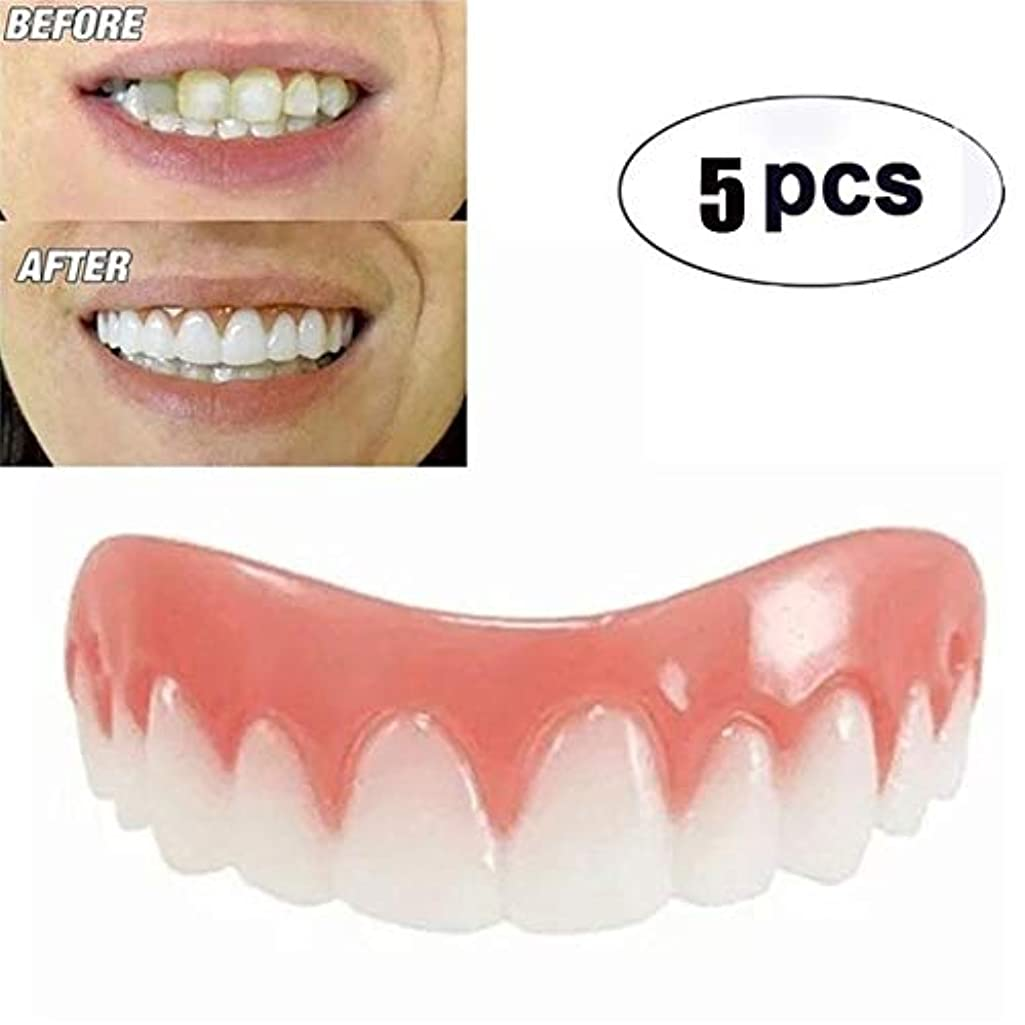 知り合い海港粘り強い上の歯の化粧板の5枚、フレックス化粧歯に適した化粧品の歯科快適性、最も快適な義歯のケア