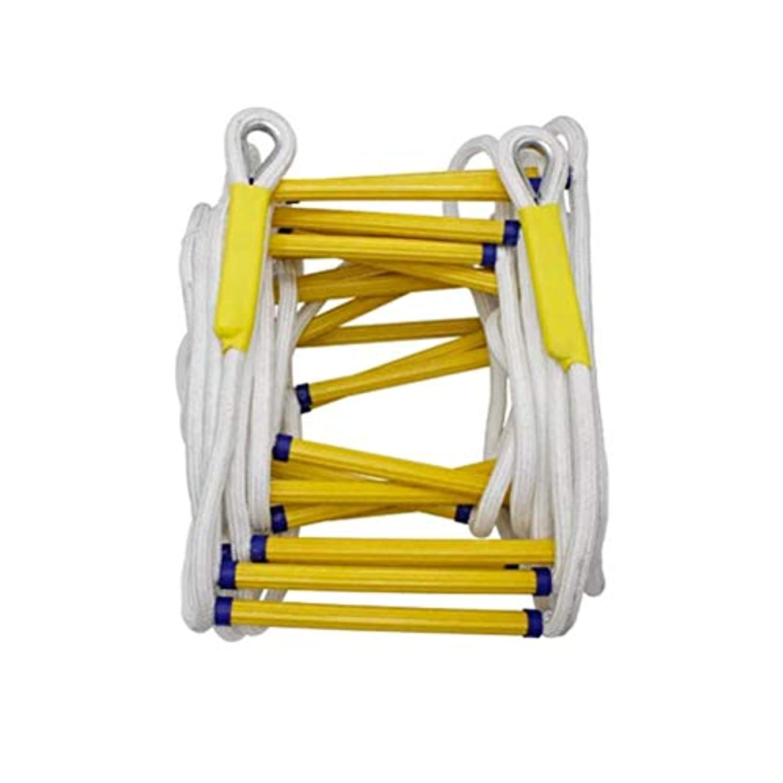 ブレースハイブリッドリスト柔らかいロープの梯子、緊急作業のための高高度の安全脱出ロープの梯子火の救助の石の上昇の脱出木