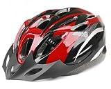 JapaNice 自転車 ヘルメット 超軽量 軽い サイクリング ロード クロス バイスクル スポーツ マウンテンバイク 頭 守る レッド(赤) グローブ(ハーフ手袋)付き