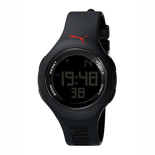 [プーマ] PUMA 腕時計 Unisex Loop Black Digital Watch クォーツ PU910801005 [バンド調節工具&高級セーム革セット]【並行輸入品】