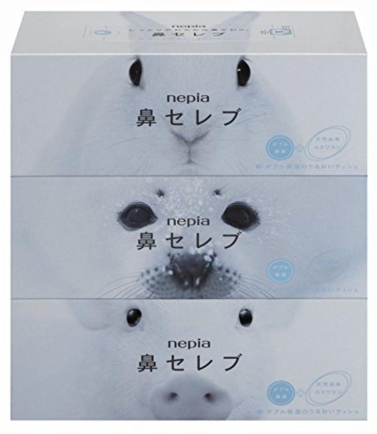 それ追い付く夕食を作る【セット品】ネピア 鼻セレブティシュ 400枚(200組)*3個パック ×4個