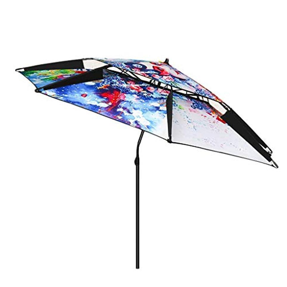 として猫背フルーツ野菜太陽傘アルミ合金オックスフォード回転日焼け止め雨折りたたみ傘屋外サンシェード傘 (サイズ さいず : Diameter2.2m)