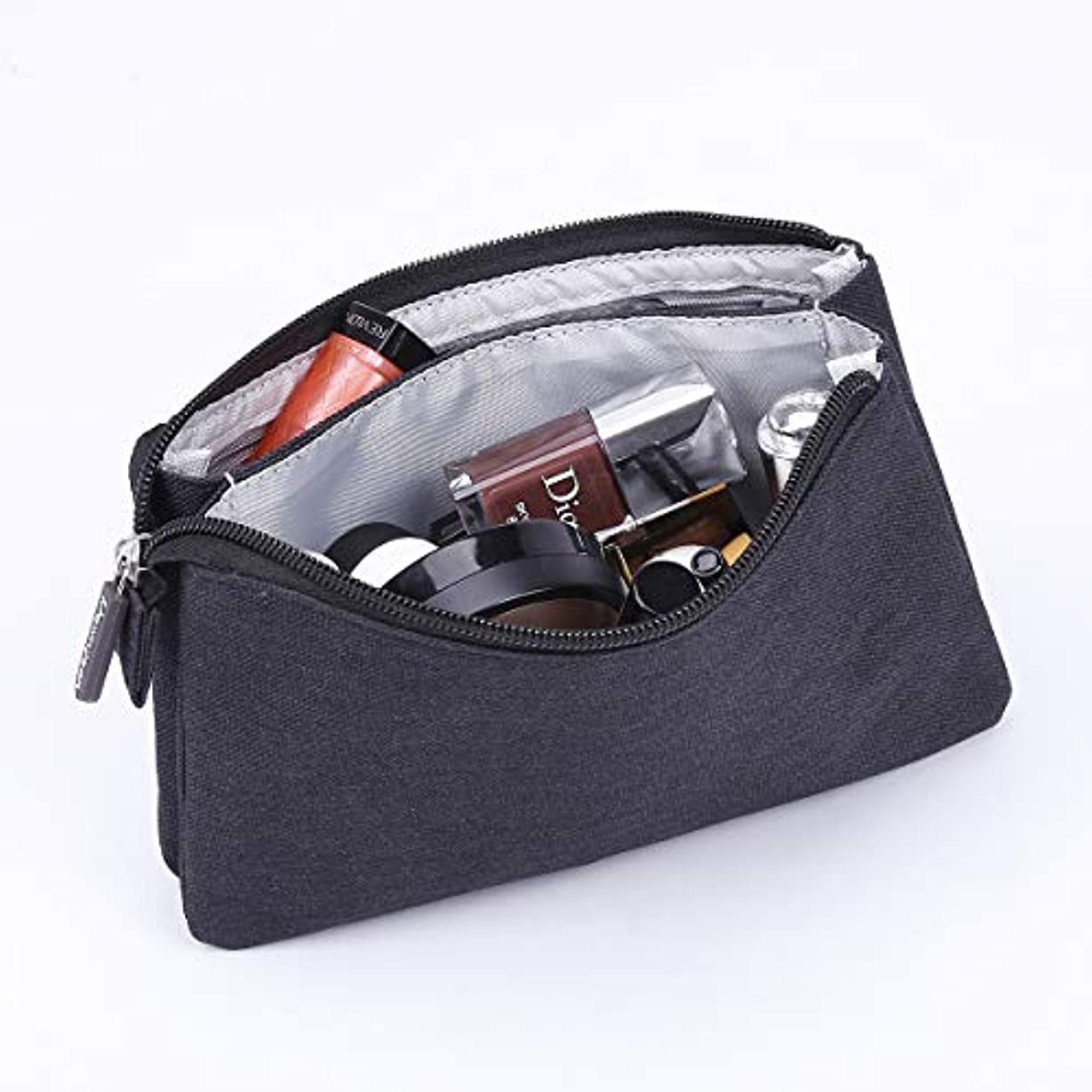 Rownyeon 化粧ポーチ メイクポーチ クラッチバッグ 小型 財布 インナー コスメポーチ 大容量 機能的 小物入れ シンプル 小物ケース 携帯用 普段使い 人気