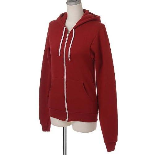 (アメリカンアパレル)American Apparel F497 Unisex Flex Fleece Zip Hoody(フレックスフリースジップフッディ)/パーカー 188/Cranberry M [並行輸入品]