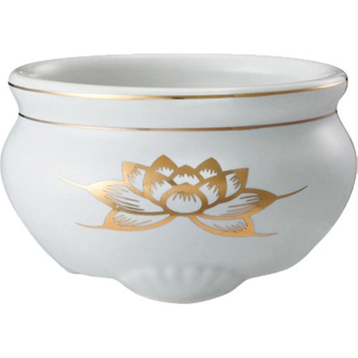 渦衝動見ました日本香堂 香炉 ミニ陶器白磁