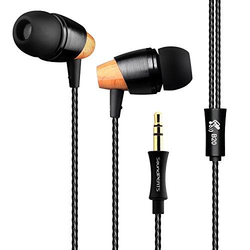 SoundPEATS(サウンドピーツ) B20 イヤホン 高音質 カナル型 [メーカー1年保証] コンパクト 軽量 ステレオ イヤフォン カナル型 イヤホン ヘッドホン ブラック