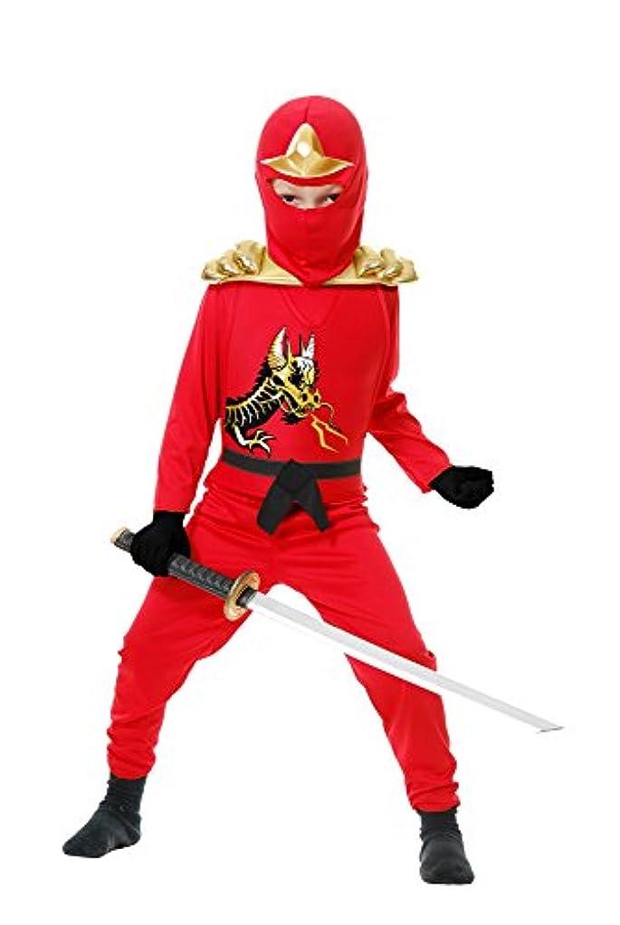 Ninja Avenger II with Armor、レッド、子供のコスチューム
