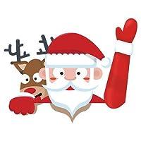 ステッカー - Delaman デカール、フロントガラス ステッカー、車用、クリスマス フロント、サンタ クロース (Color : #2)