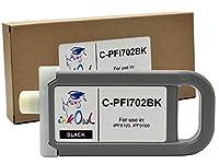 InkOwl–互換インクカートリッジ交換Canon - 702bk ( 700ml、ブラック) for ipf8100、ipf9100プリンタ