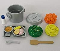 メガハウス:学校のおもいで 給食のときめき ⑥-②おかずバケツと天丼の日 赤飯 シルバニアにも 絶版御