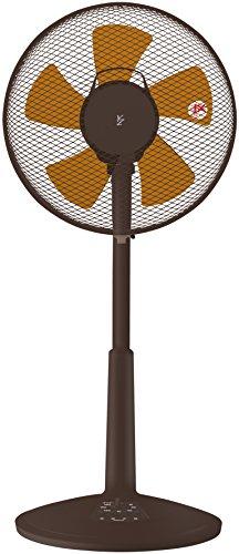 山善 30cmリビング扇風機 (押しボタンスイッチ)(風量3段階) タイマー付 ブラウン YLT-C30(BR)