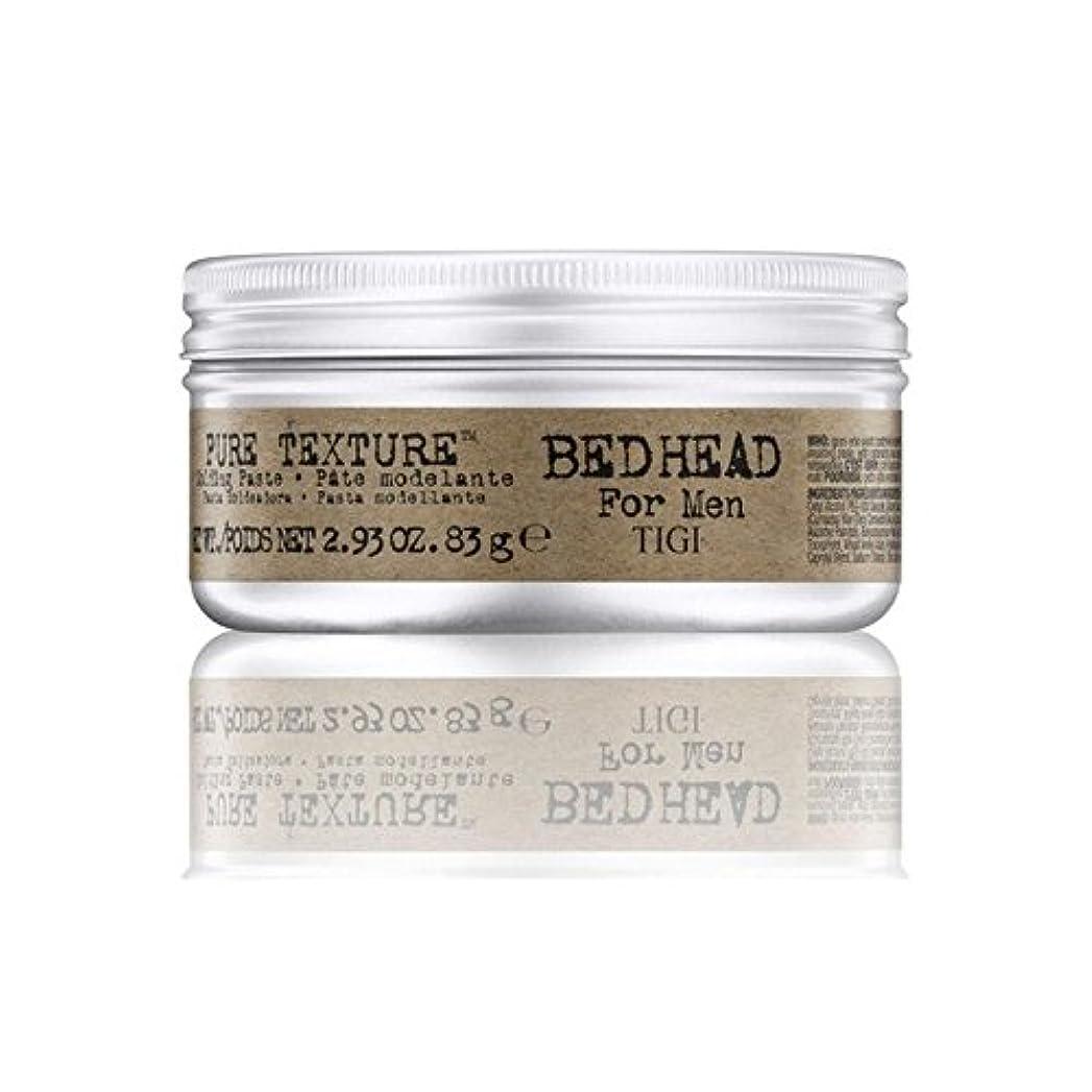 パワー回復する野菜男性の純粋なテクスチャーモールディングペースト(83グラム)のためのティジーベッドヘッド x4 - Tigi Bed Head For Men Pure Texture Molding Paste (83G) (Pack...