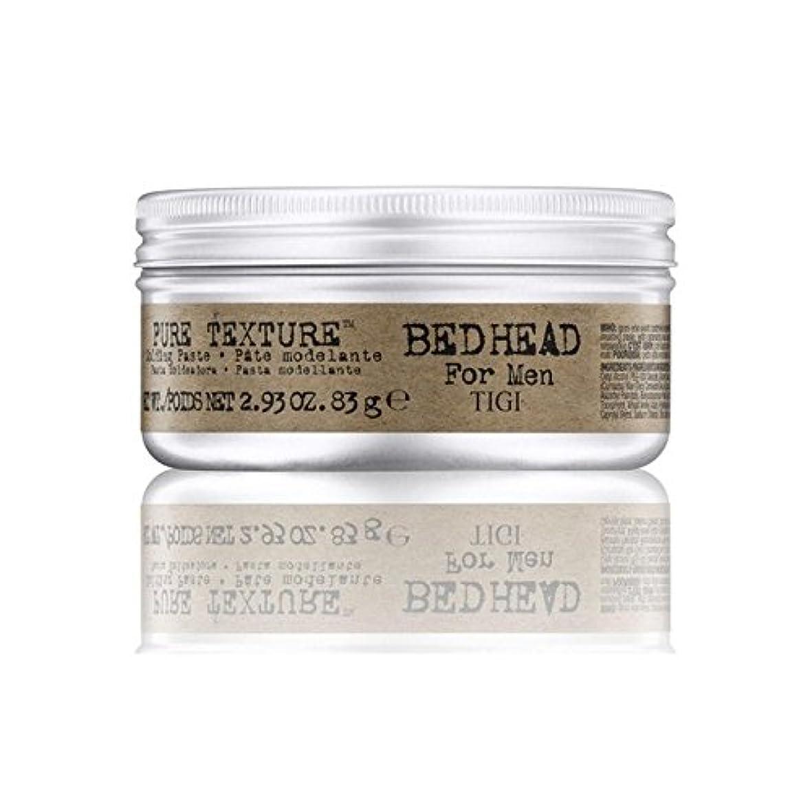 アジア人ピアース分析する男性の純粋なテクスチャーモールディングペースト(83グラム)のためのティジーベッドヘッド x4 - Tigi Bed Head For Men Pure Texture Molding Paste (83G) (Pack...