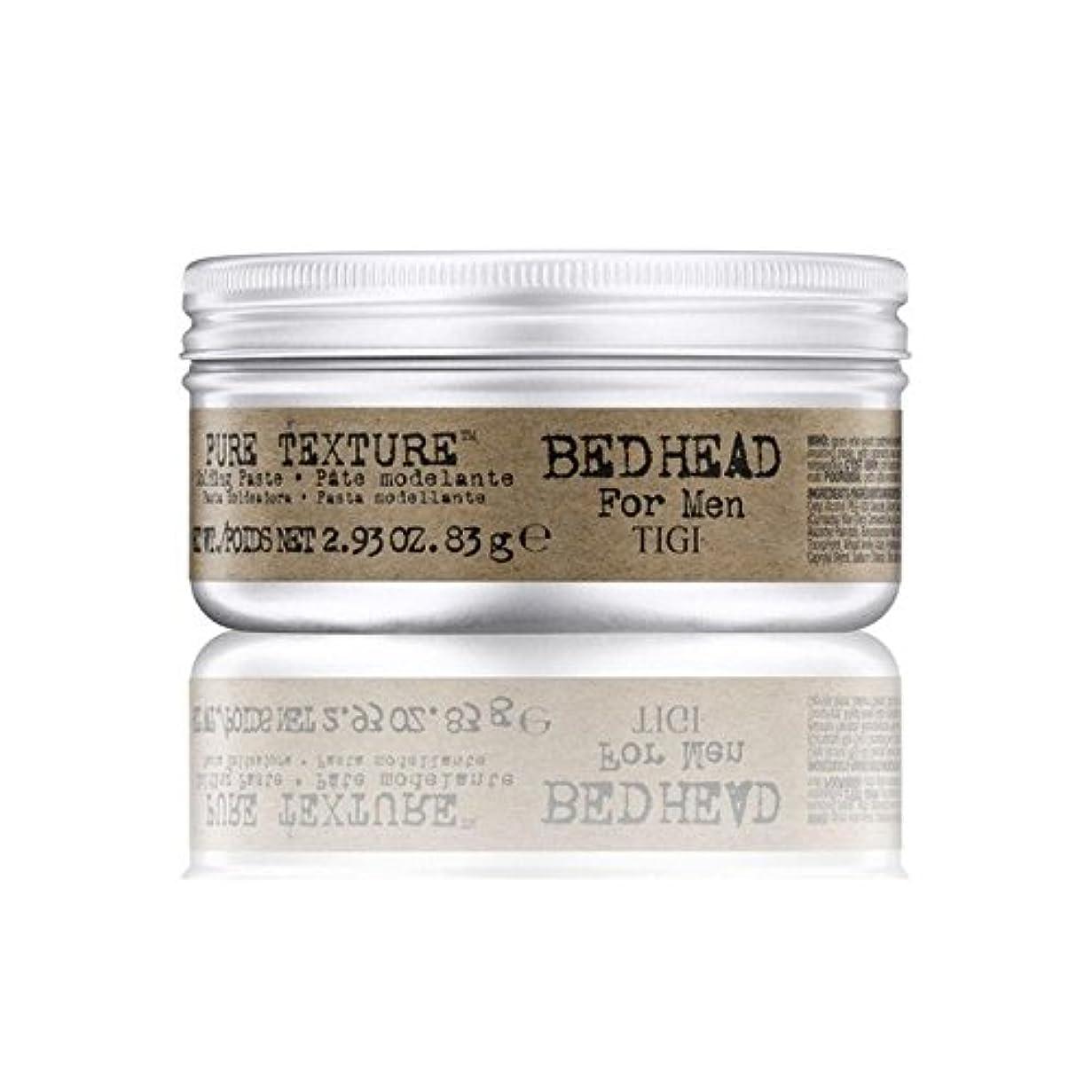 チョコレート解釈活力Tigi Bed Head For Men Pure Texture Molding Paste (83G) (Pack of 6) - 男性の純粋なテクスチャーモールディングペースト(83グラム)のためのティジーベッドヘッド...
