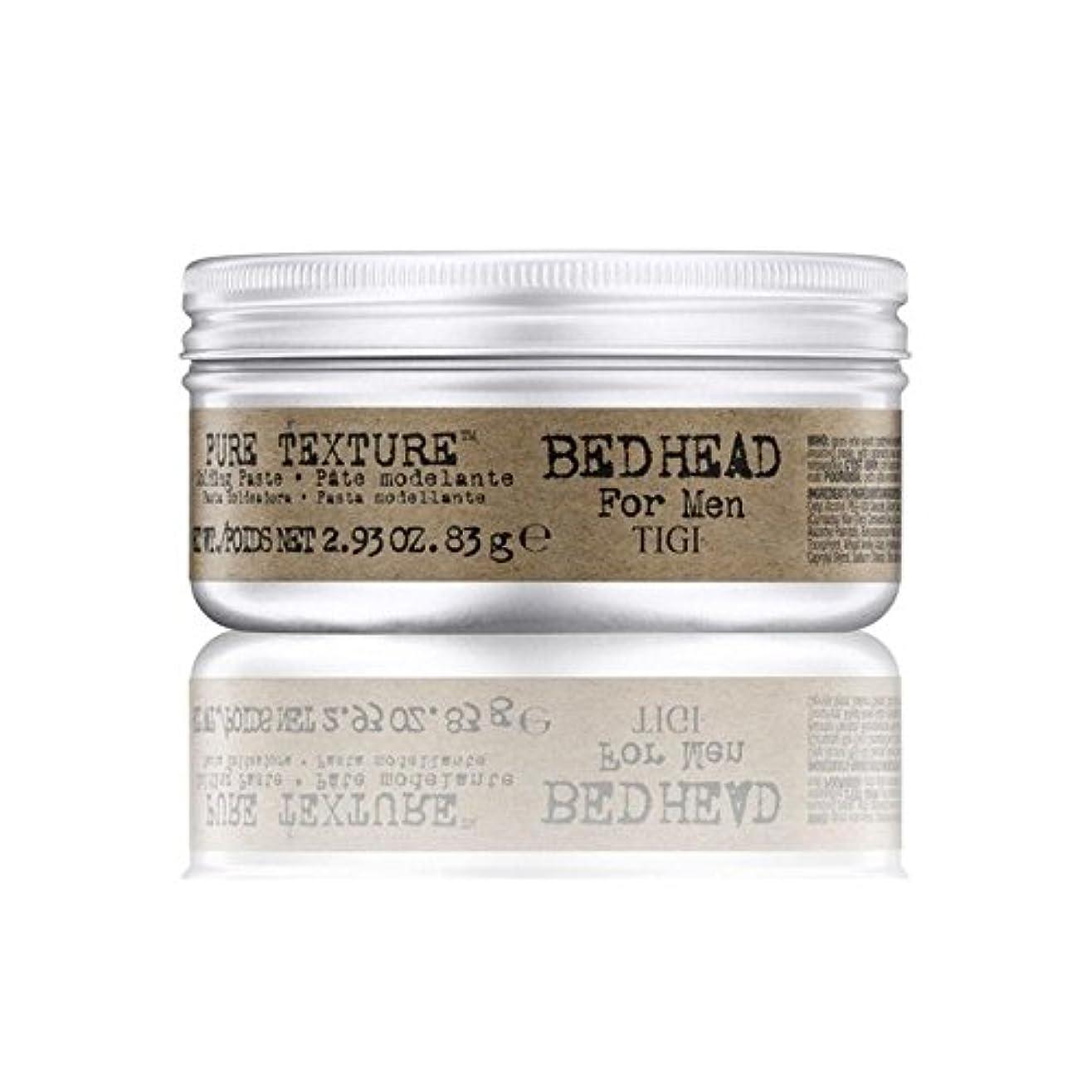 故障卵大混乱Tigi Bed Head For Men Pure Texture Molding Paste (83G) (Pack of 6) - 男性の純粋なテクスチャーモールディングペースト(83グラム)のためのティジーベッドヘッド...