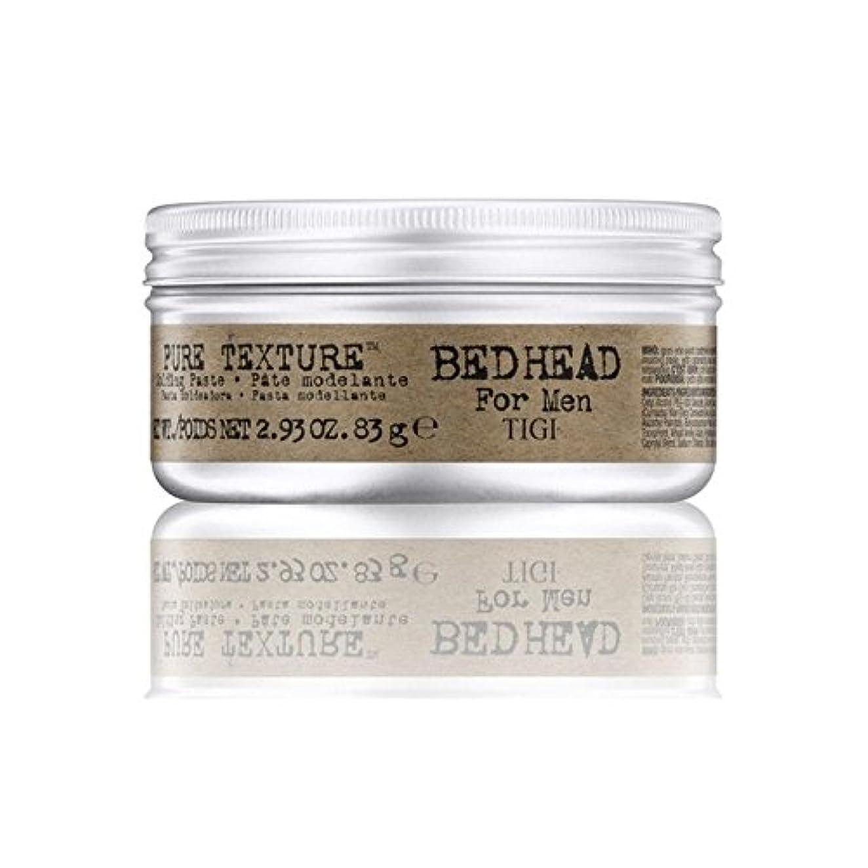降ろす流暢凍ったTigi Bed Head For Men Pure Texture Molding Paste (83G) (Pack of 6) - 男性の純粋なテクスチャーモールディングペースト(83グラム)のためのティジーベッドヘッド...