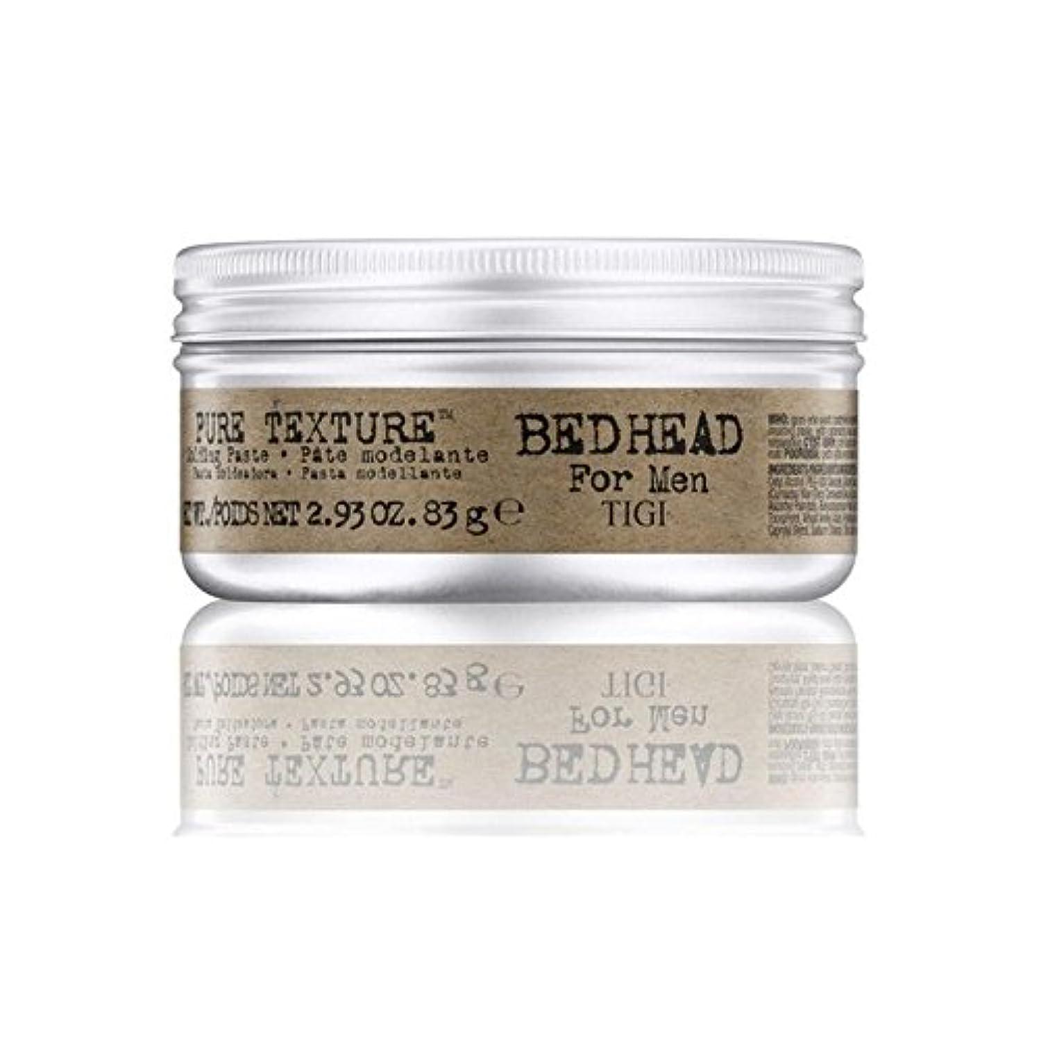 男性の純粋なテクスチャーモールディングペースト(83グラム)のためのティジーベッドヘッド x4 - Tigi Bed Head For Men Pure Texture Molding Paste (83G) (Pack...