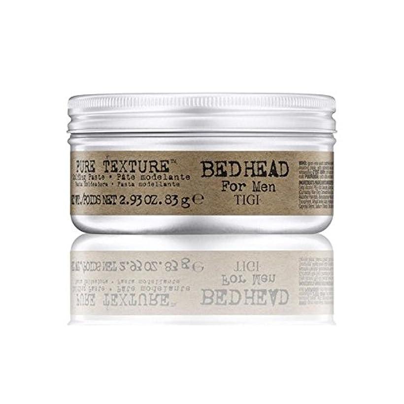 ドラマ反動ペックTigi Bed Head For Men Pure Texture Molding Paste (83G) (Pack of 6) - 男性の純粋なテクスチャーモールディングペースト(83グラム)のためのティジーベッドヘッド...
