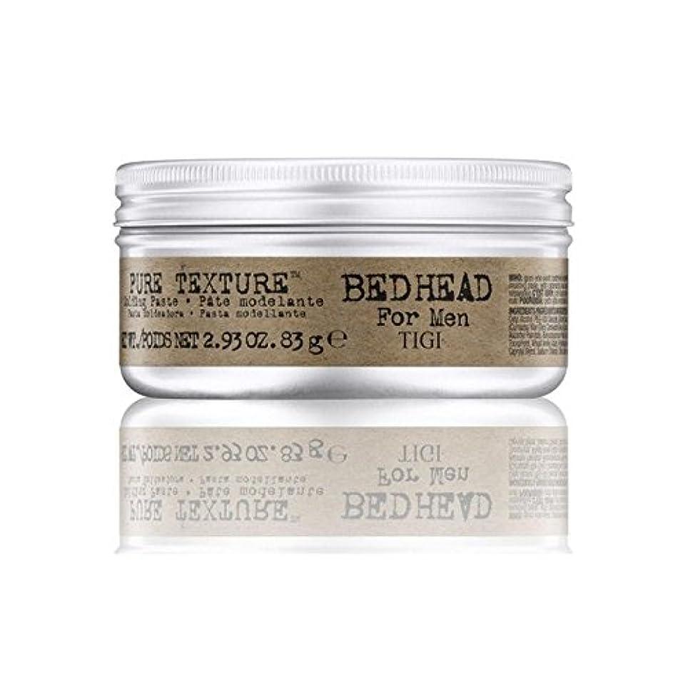 ズボンダブル習字男性の純粋なテクスチャーモールディングペースト(83グラム)のためのティジーベッドヘッド x4 - Tigi Bed Head For Men Pure Texture Molding Paste (83G) (Pack...