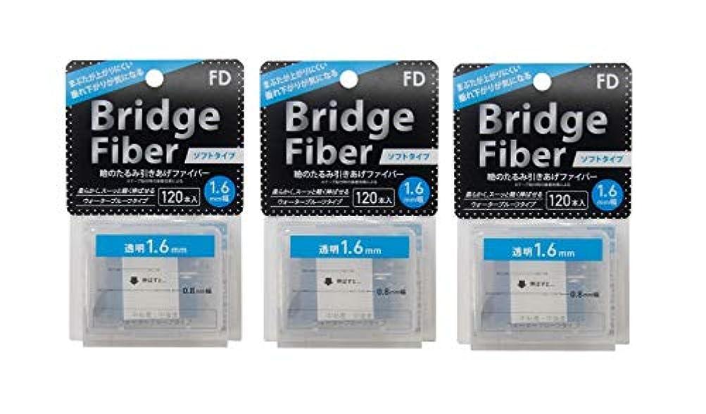 トチの実の木家禽高価なFD ブリッジソフトファイバー 眼瞼下垂防止テープ ソフトタイプ 透明1.6mm幅 120本入り×3個セット