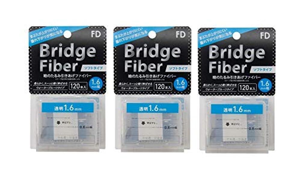 ドーム声を出して緩やかなFD ブリッジソフトファイバー 眼瞼下垂防止テープ ソフトタイプ 透明1.6mm幅 120本入り×3個セット