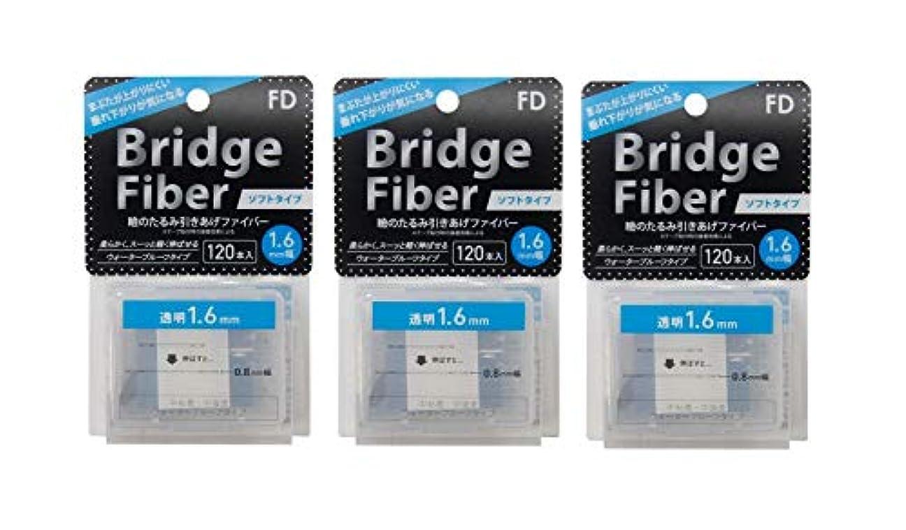 魔術精神省略FD ブリッジソフトファイバー 眼瞼下垂防止テープ ソフトタイプ 透明1.6mm幅 120本入り×3個セット