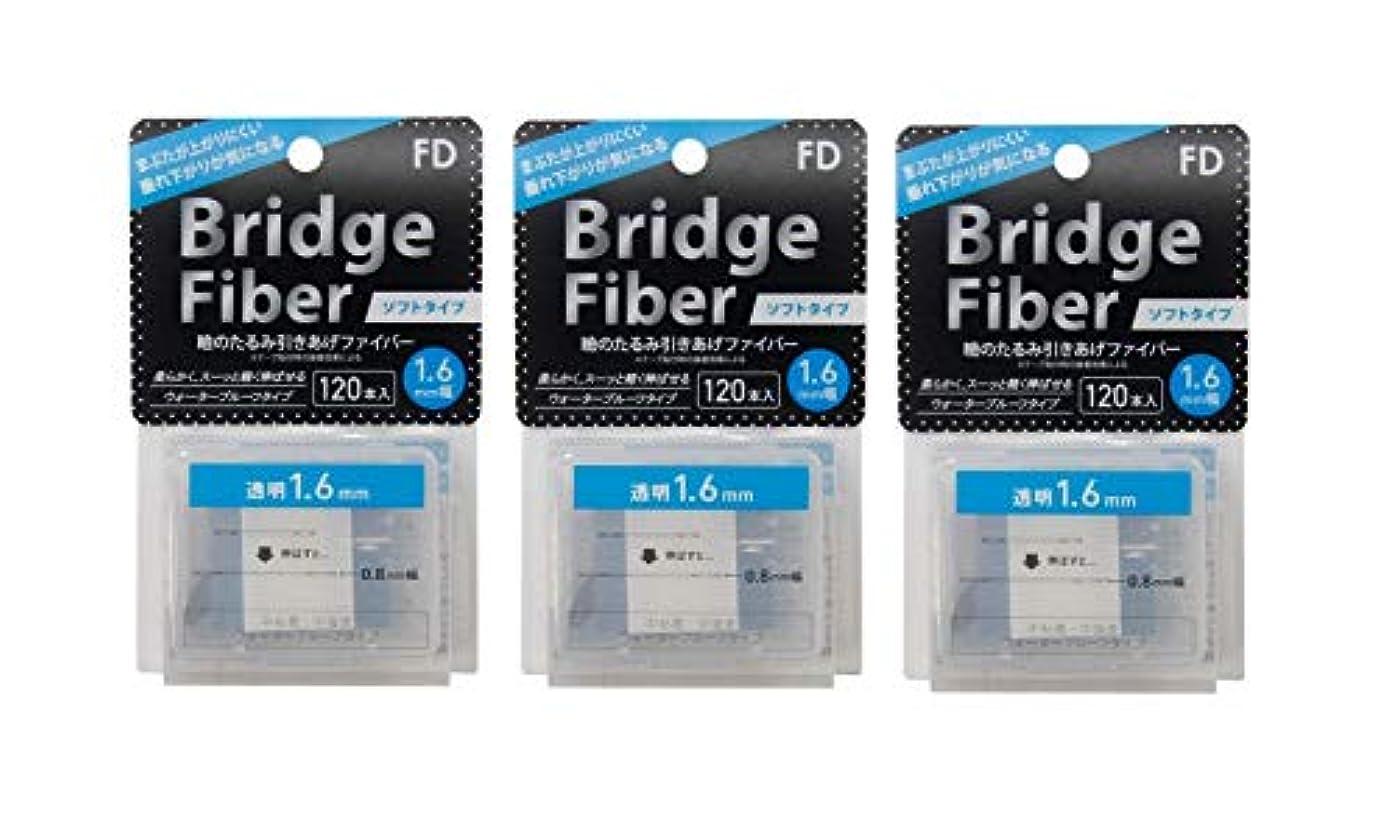 配管工極端な報告書FD ブリッジソフトファイバー 眼瞼下垂防止テープ ソフトタイプ 透明1.6mm幅 120本入り×3個セット