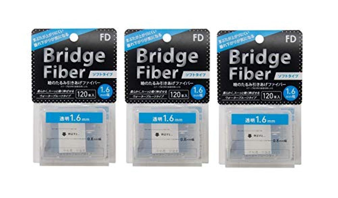 ミュウミュウのぞき穴リテラシーFD ブリッジソフトファイバー 眼瞼下垂防止テープ ソフトタイプ 透明1.6mm幅 120本入り×3個セット