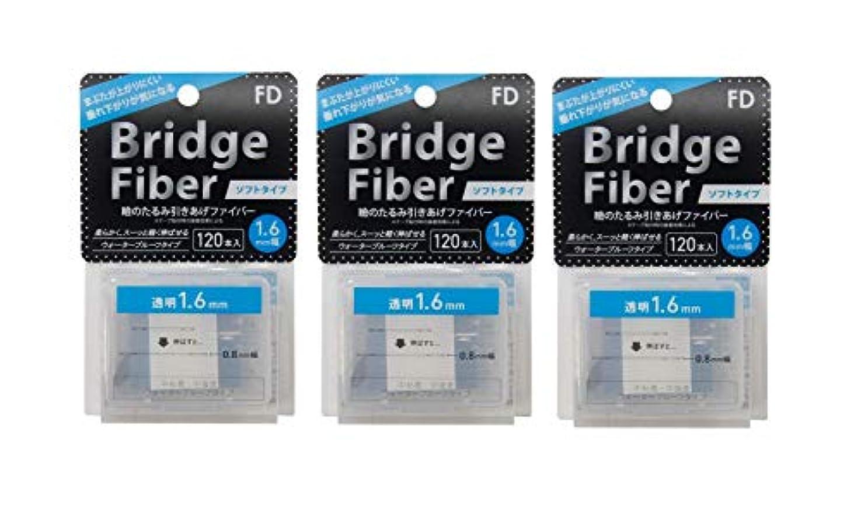見捨てる教師の日フライトFD ブリッジソフトファイバー 眼瞼下垂防止テープ ソフトタイプ 透明1.6mm幅 120本入り×3個セット