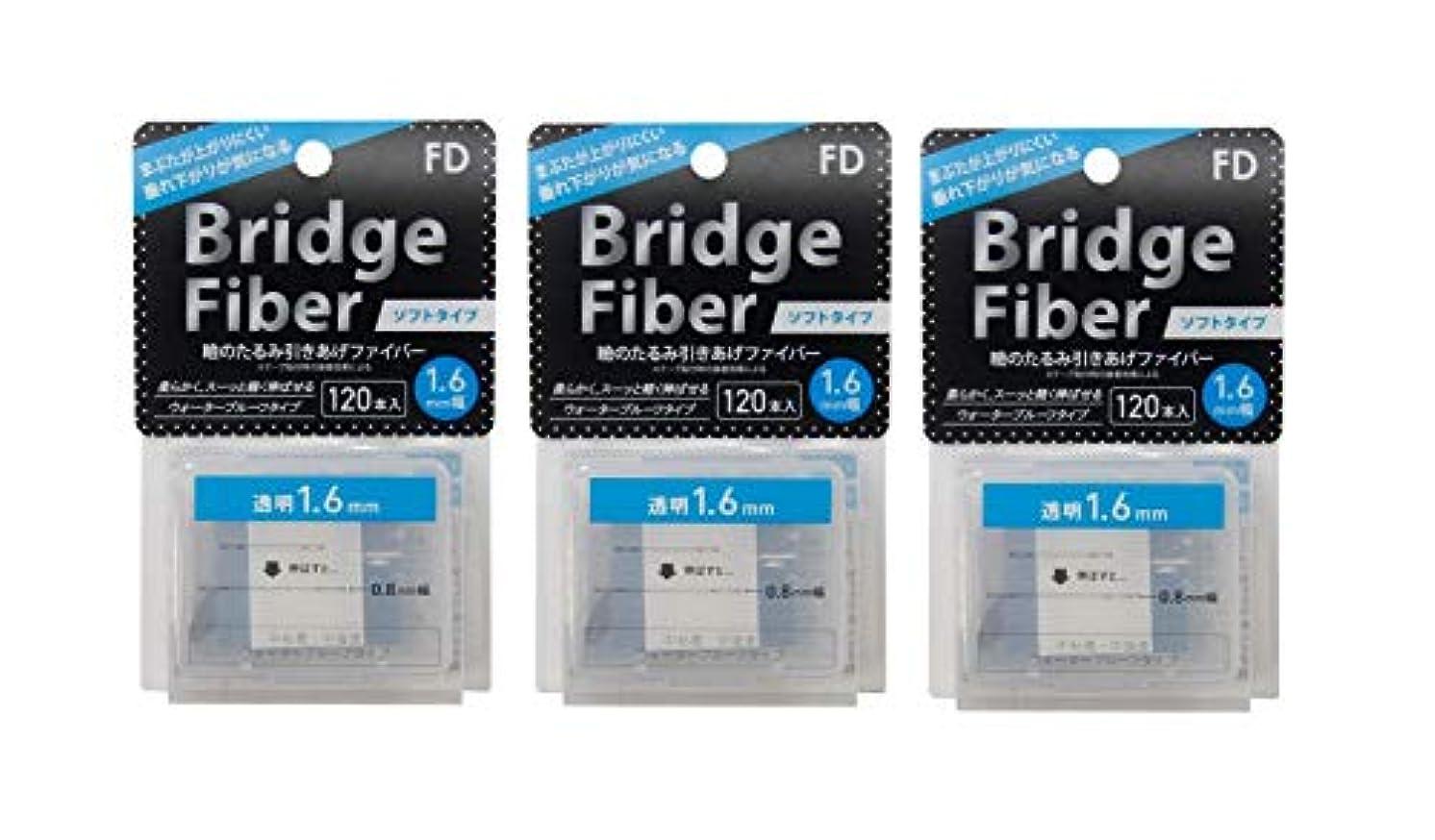 学部長バイナリフリッパーFD ブリッジソフトファイバー 眼瞼下垂防止テープ ソフトタイプ 透明1.6mm幅 120本入り×3個セット