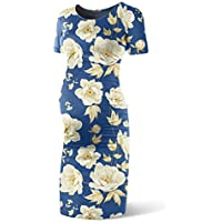 SUNNYBUY Women's Short Sleeve Maternity Dresses Casual Pregnancy Clothes Bodycon Baby Shower Dress