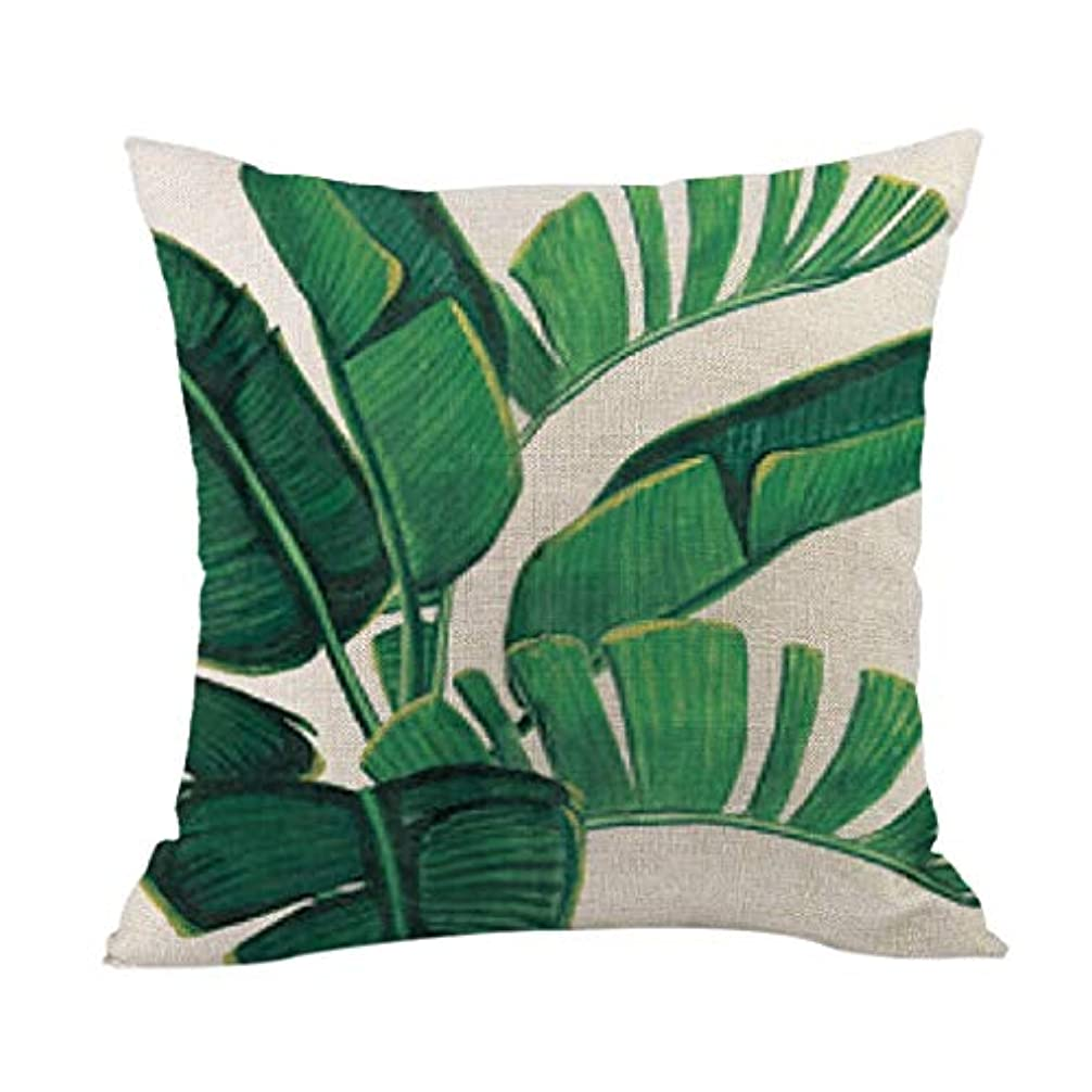 エミュレートするコールラベルLIFE 高品質クッション熱帯植物ポリエステル枕ソファ投げるパッドセットホーム人格クッション coussin decoratif クッション 椅子
