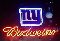 Desung 新品B udweiser Sports League NY-Giants ネオンサイン (各種サイズ) ビアバー パブ 男性の部屋 ガラス ネオンライトランプ BW70 20 Inches