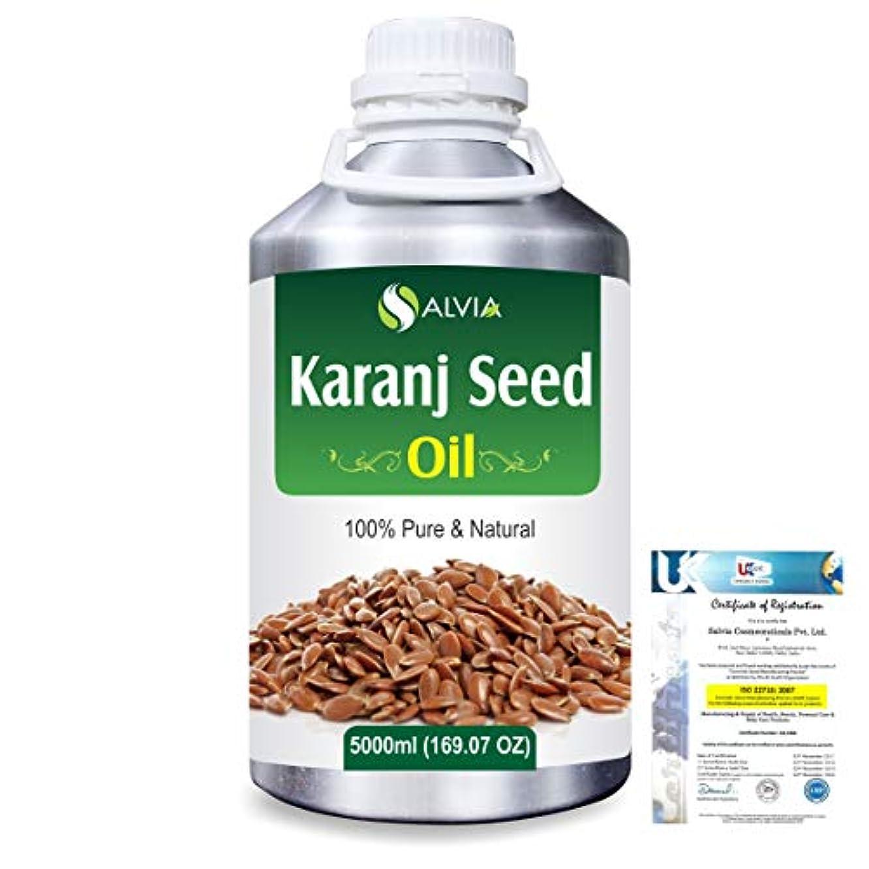 チロ引き受ける毎年Karanj Seed (Pongamia glabra) Natural Pure Undiluted Uncut Carrier Oil 5000ml/169 fl.oz.