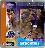 マクファーレントイズ NBAフィギュア シリーズ2/ジョン・ストックトンvariant紫/ユタ・ジャズ