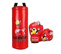 Kaiyitong01 ターゲット、ボクシンググローブ、子供用ハンギング土嚢コンビネーションボクシングトレーニング用品、子供に最適なギフト、ブルー 汗 (Color : Red, Size : 50cm)