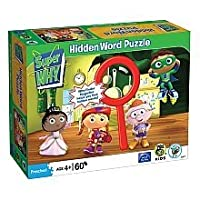 Super Why In the Kitchen 60 pc Hidden Word Jigsaw Puzzle by University Games